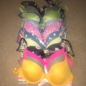 Victoria secret pink bras 34b